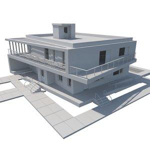 3d model house modern