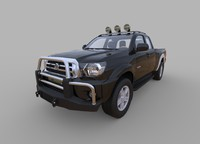 3d generic pickup truck model