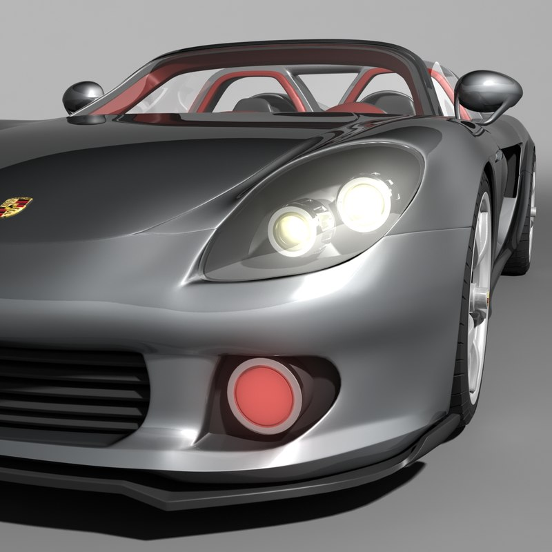 3d model of porsche carrera gt car