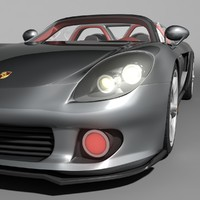 3d model of porsche carrera gt car