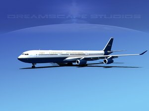 3d airline a340-600 airbus a340 model