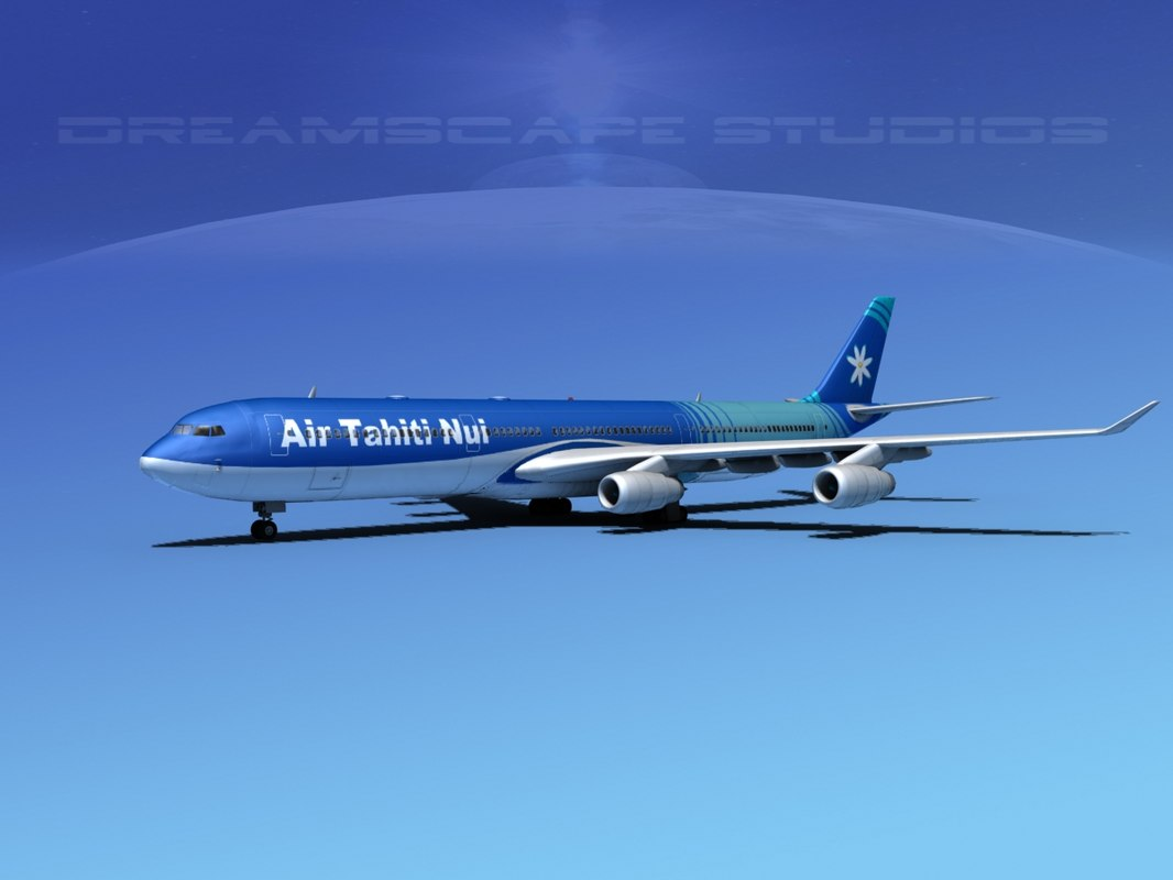 airline a340-600 airbus a340 3d dwg