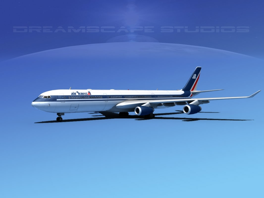 airline a340-600 airbus a340 3d max