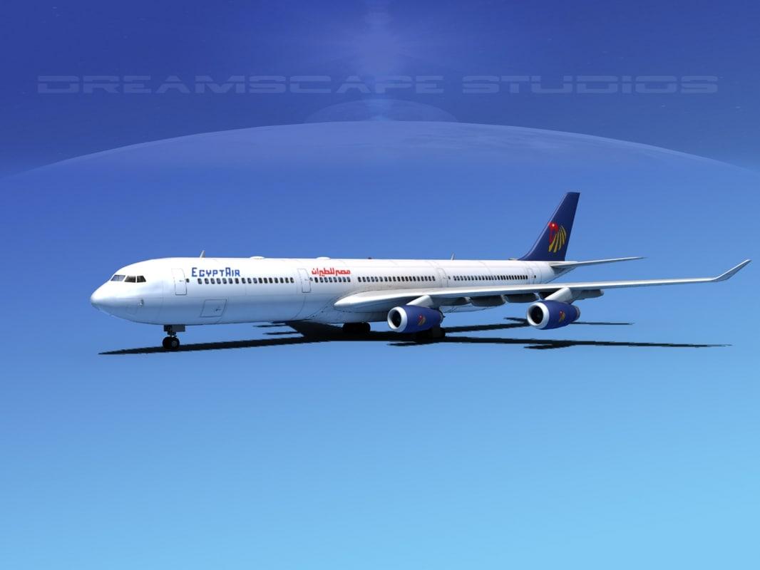 airline a340-600 airbus a340 3d obj