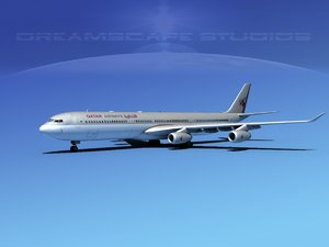 airline a340-600 airbus a340 3d model