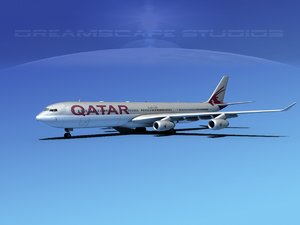 3d model of airline a340-600 airbus a340