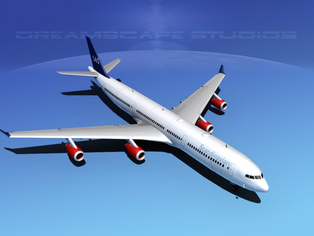 3ds airline a340-600 airbus a340