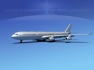 3d model airline a340-600 airbus a340