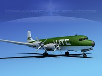 3d douglas dc-7c dc-7 transport model