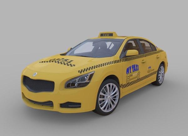 3d generic taxi car model
