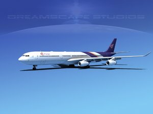 3d airline a340-600 airbus a340