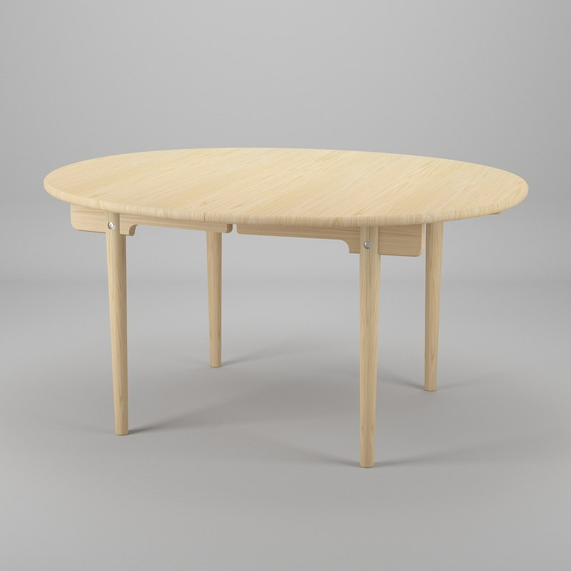 table hans j wegner 3d 3ds