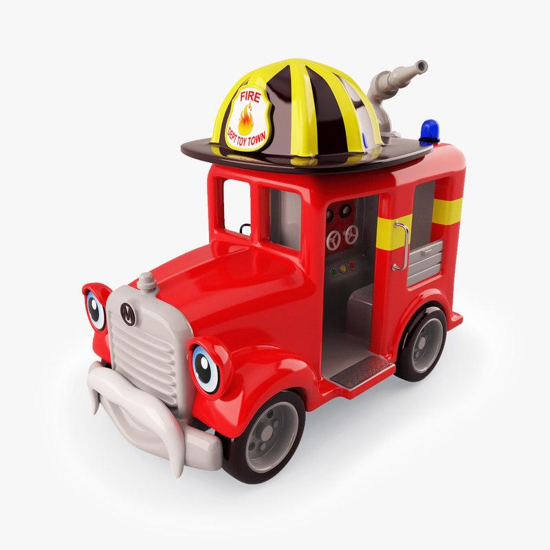 3d model of kiddie ride truck