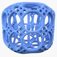 complex shape 3d obj
