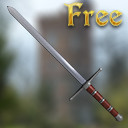 free medieval european longsword 3d model