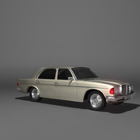 3d model mercedes-benz 123-series
