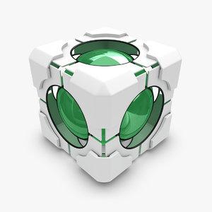 3d model portal cube