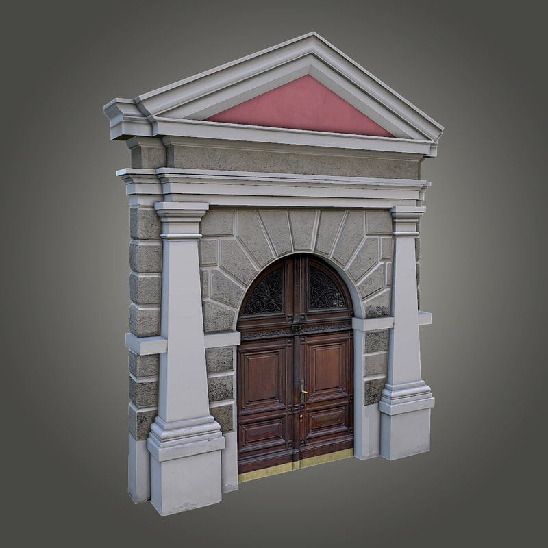 3d ornate door