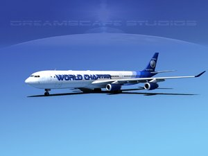 airline a340-600 airbus a340 3d 3ds
