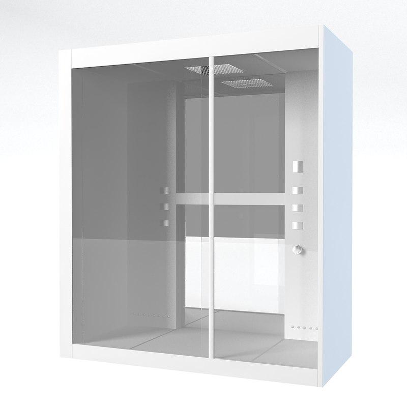 3d bathroom shower cabin model