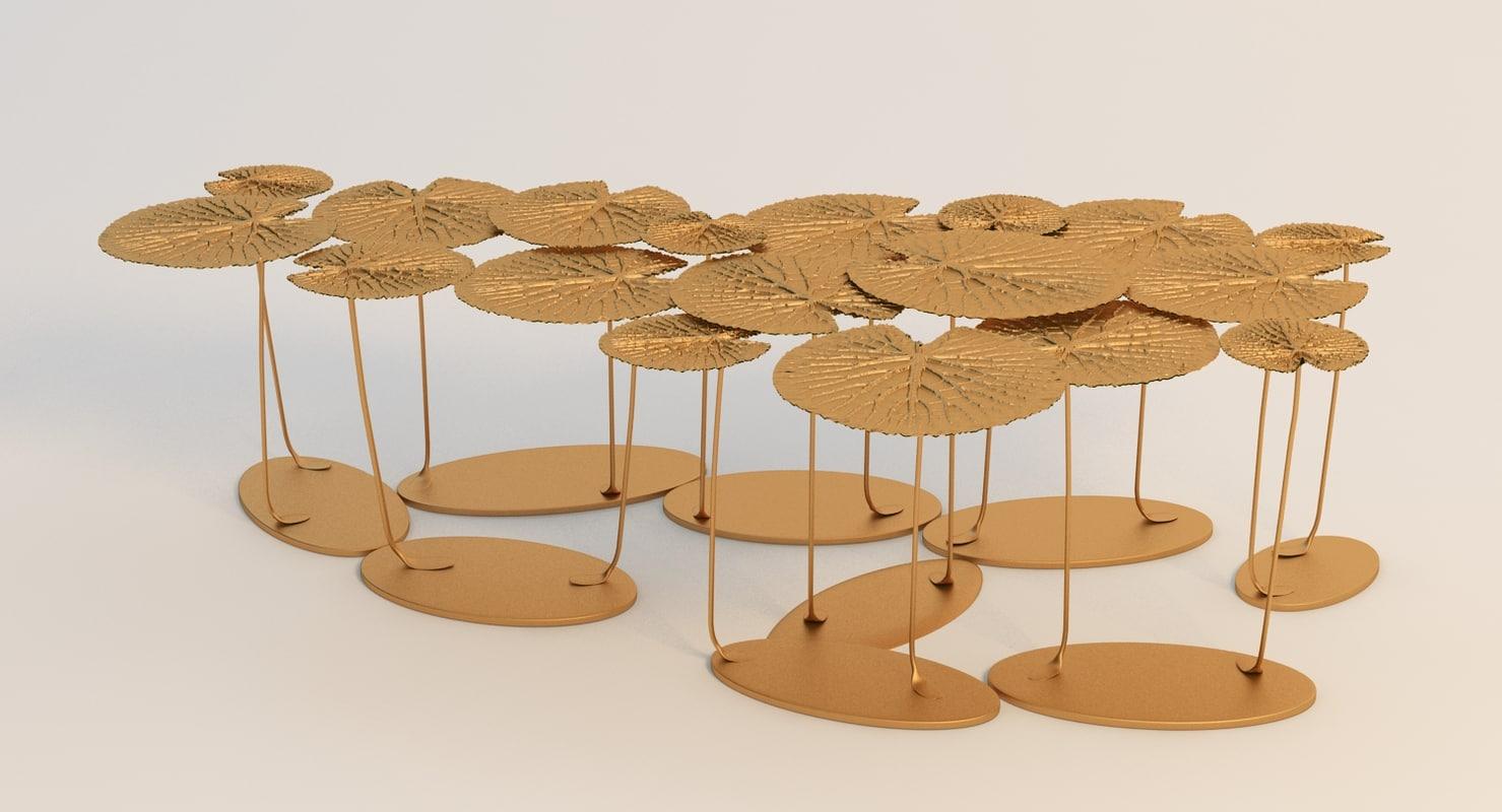fillo long table 3d model