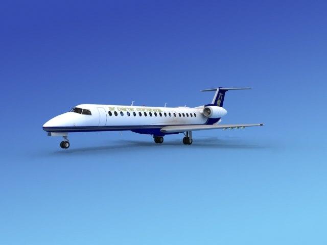 3d embraer erj charter