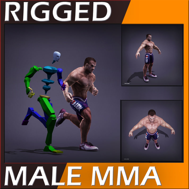 realistic male body - 3d model