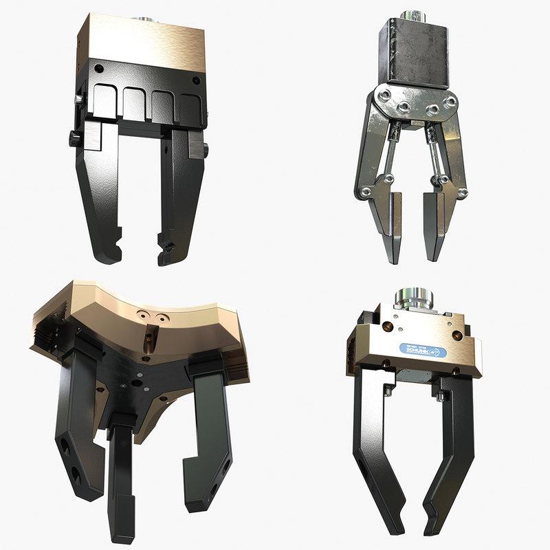 robotic gripp 3d 3ds