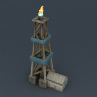 Drilling rig lowpoly