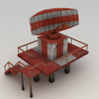 Lowpoly radar station