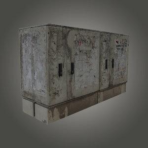 dirty electricity box 3d obj