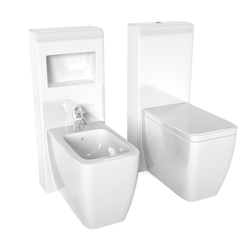 3d contemporary toilet bidet