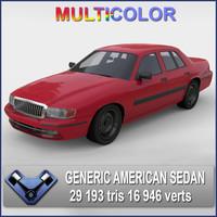 3ds generic american sedan