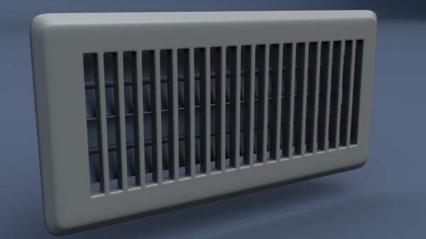 wall floor vent 3d max