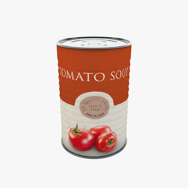 food - tomato soup 3d max