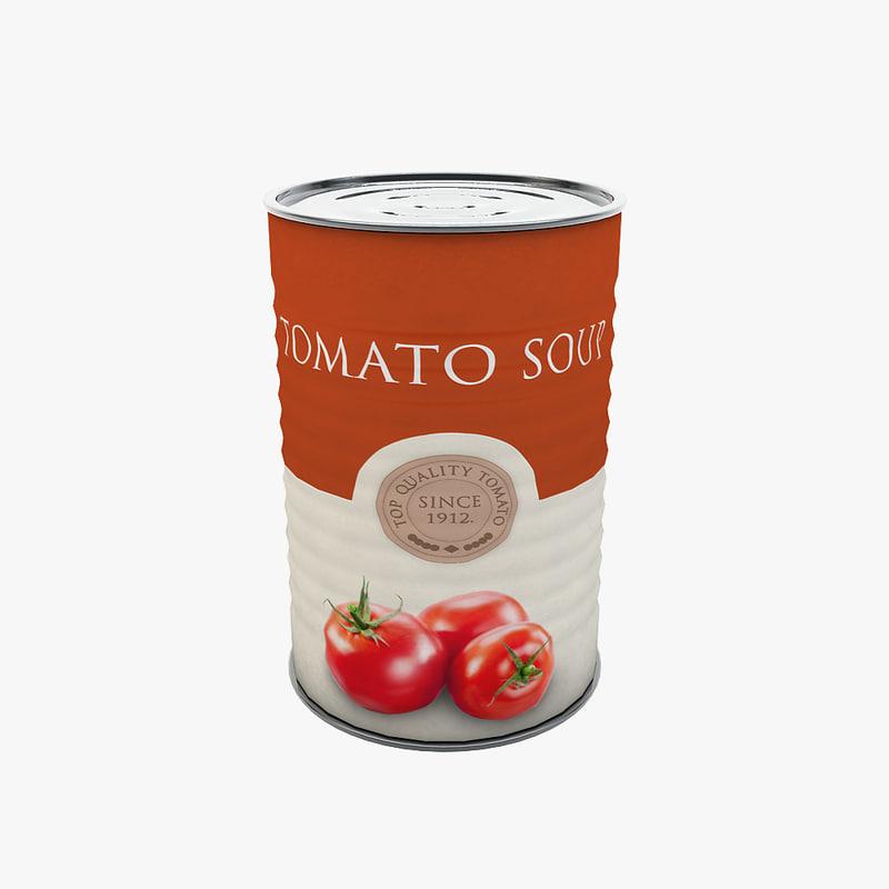 food - tomato soup 3d max