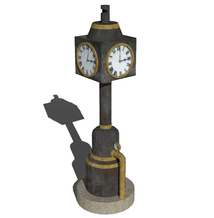 steampunk clock 3ds