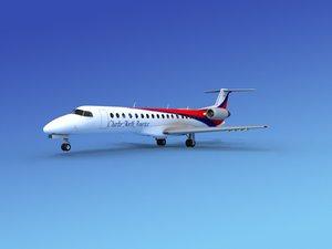 embraer erj charter 3d max