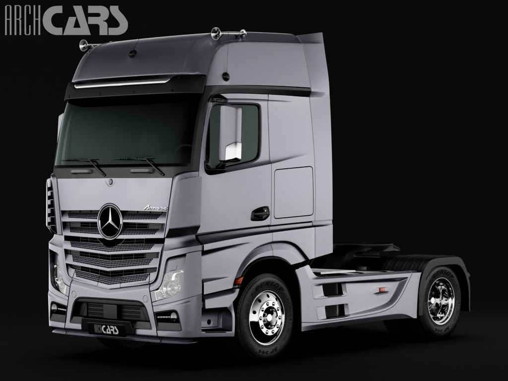 3d model of mercedes benz semi