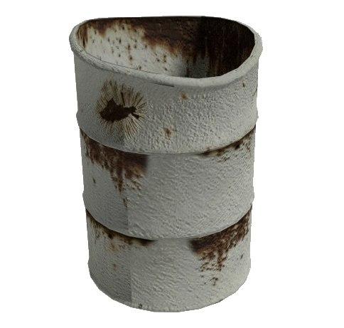 free rust barrel 3d model