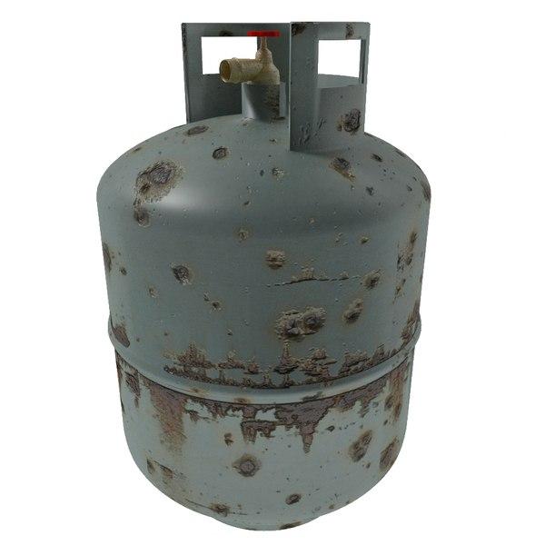 3ds max propane gas tank