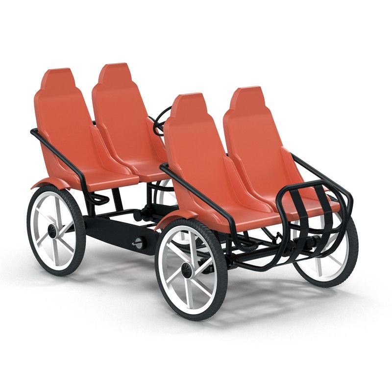 quadracycle bike pedal 3d 3ds