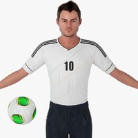 3d soccer player character rigging