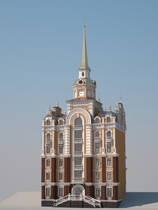 town hall 3d max
