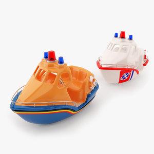 3d model small boat life