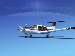 3d propeller piper arrow iii model