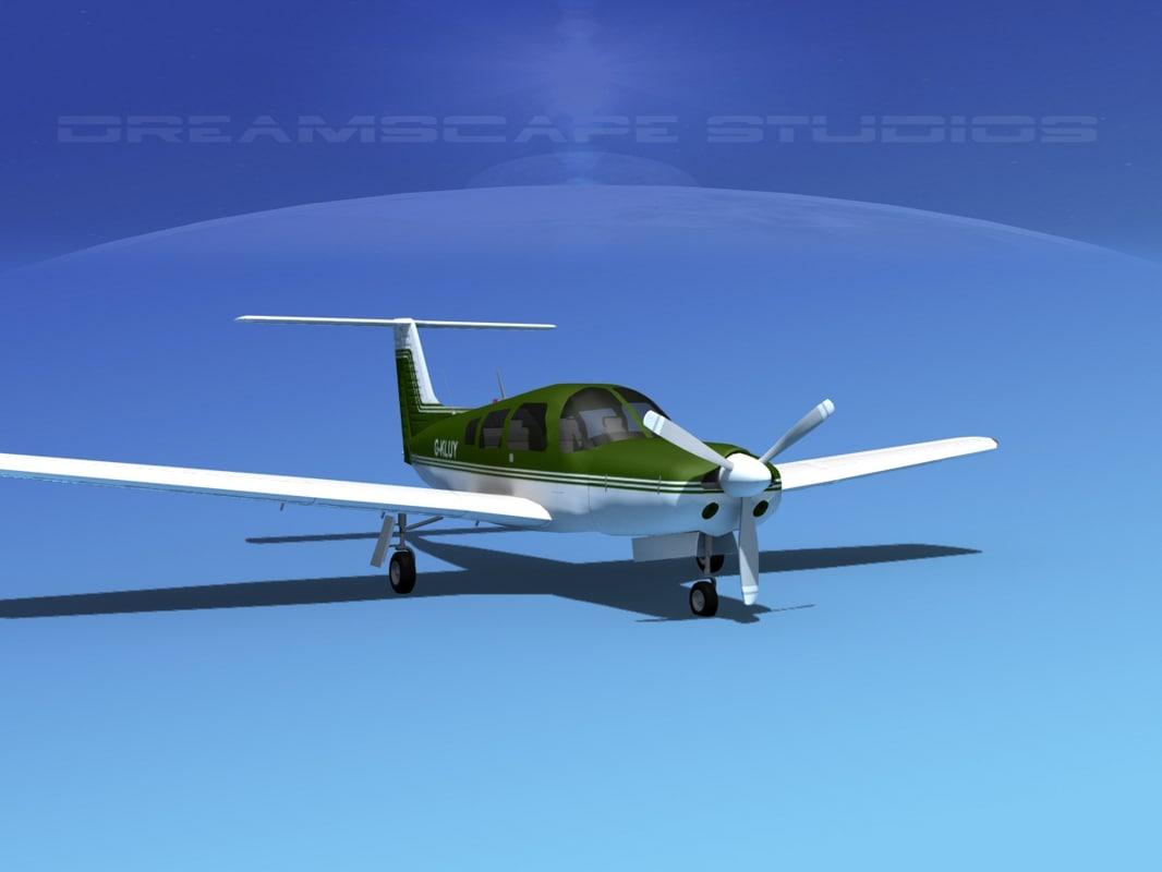 3d model of propeller piper arrow iii