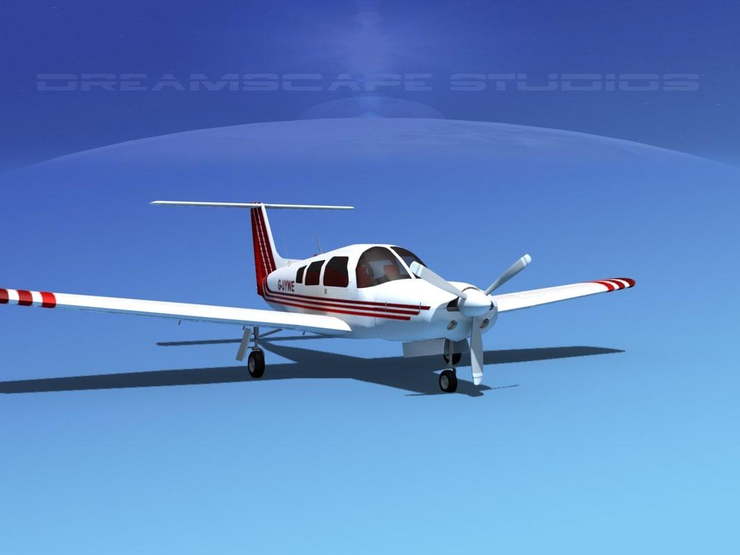 3d model propeller piper arrow iii