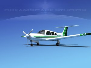 propeller piper arrow iii 3d model