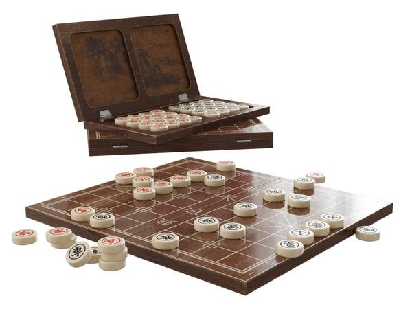 3ds max xiangqi board games
